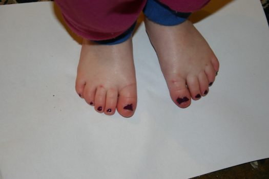Coloured toes please mummy
