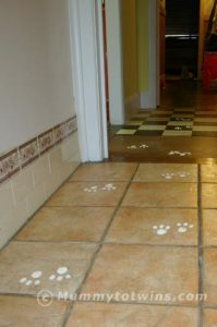 Easter Bunny Footprints