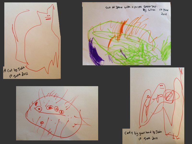 Julia and Lillian's artwork