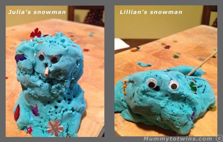 Playdough Snowmen