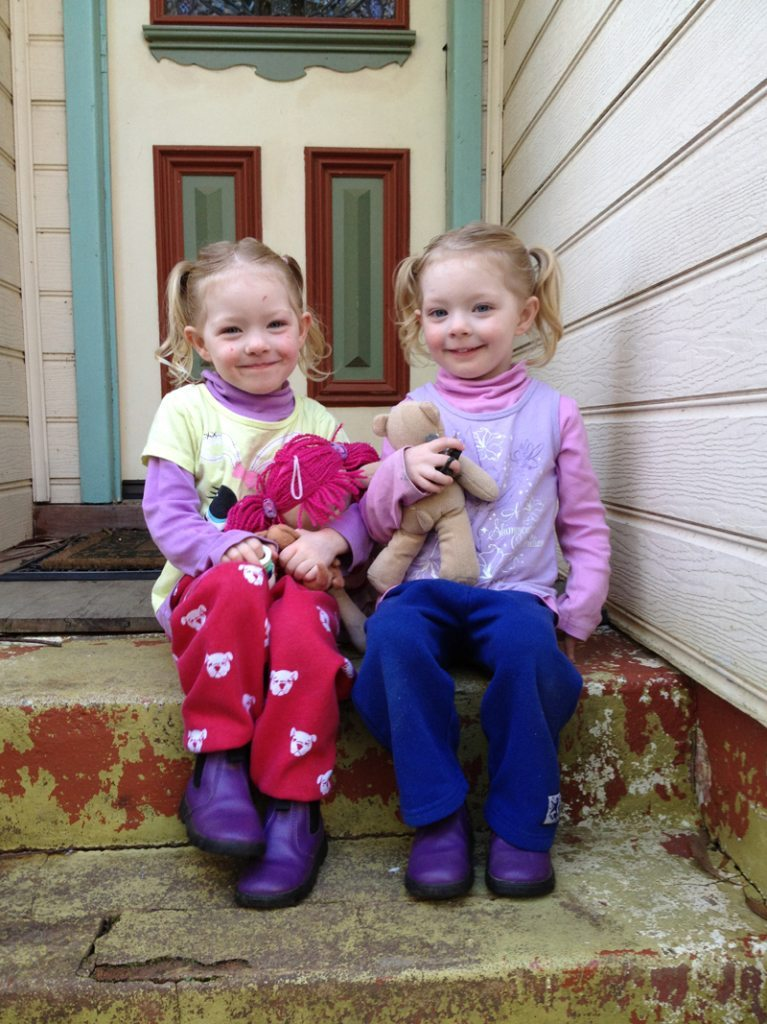 Julia and Lillian - First day of term 3, July 2012