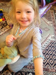 Lillian with her new bling