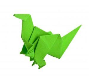 Not as scary as it is an Origami Dinosaur. Image by FreeDigitalPhotos.net.