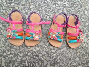 The girls new sparkly sandals