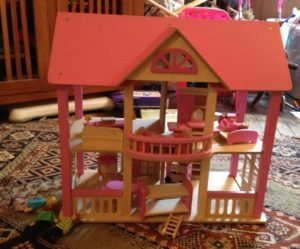 Finished Dolls House - Now the twins can play!