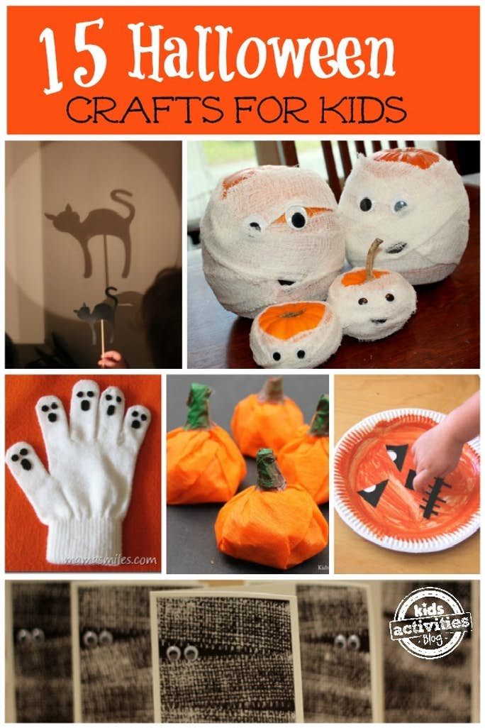 Kids Activities Bloghave some fab Halloween Craft - Go to their site and check out all the great things you can make with the kids this Halloween.