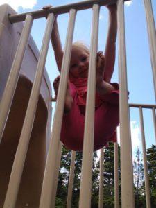 Climbing like a monkey