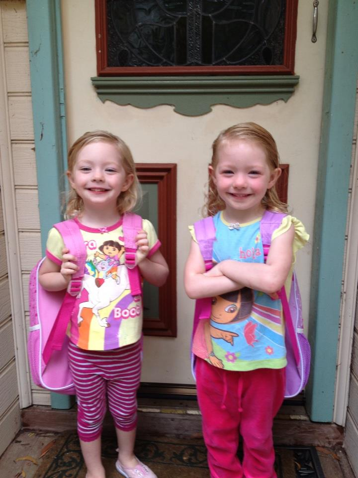 The The girls first day of school 2013