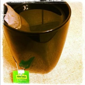 Day 5 - Smelling my relaxing green tea. #fmsphotoaday