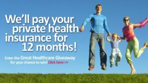 win 12 months Private Health Care paid for by 1st Available.com.au.
