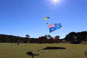 Landing at Melrose Park, Katoomba