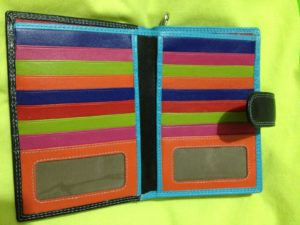 Happy colour inside of purse - how special is this!
