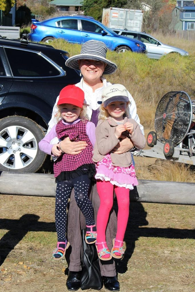 The girls and I a few years ago now. We were at Melrose Park to see a man jump out of plane for the fly over. This was on the 25th of May 2013.