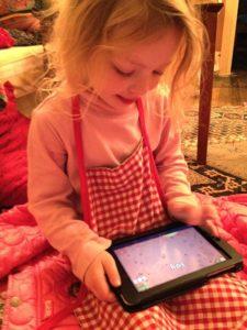 Julia playing Eggy Words 250 on the Google Nexus