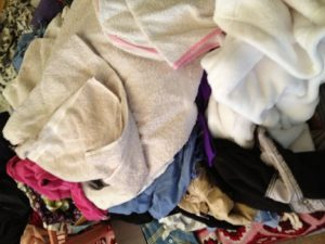 Clothes to be sorted and put away