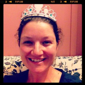 Not the Queen of Australia but the Queen of our household. Was crowned by Princess Julia.