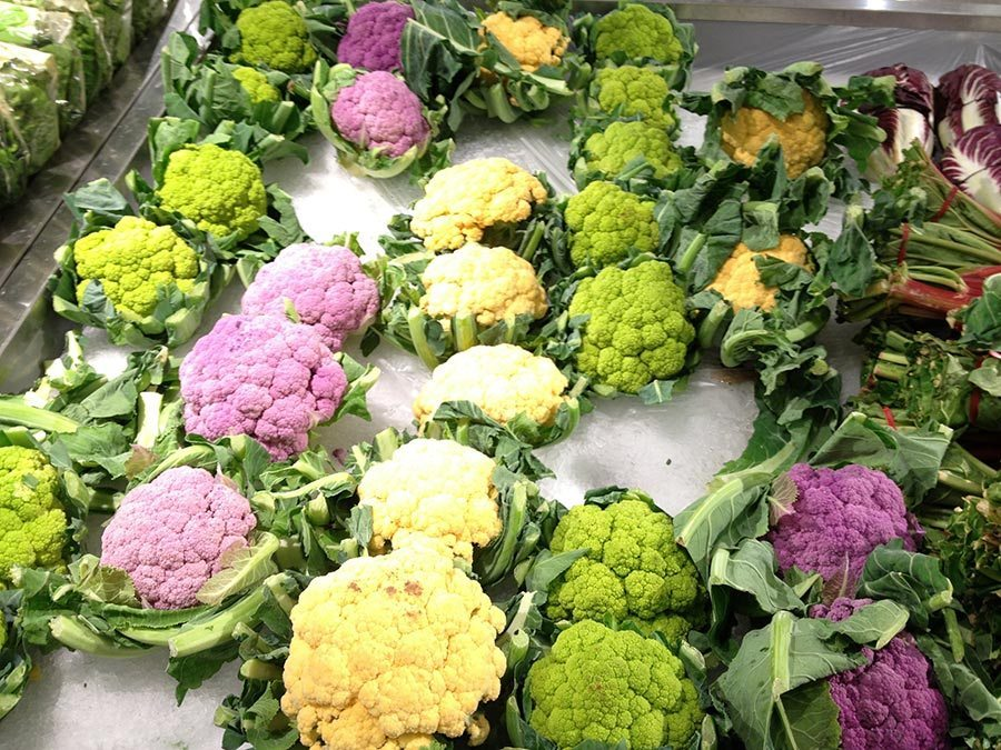 Different Coloured Cauliflower