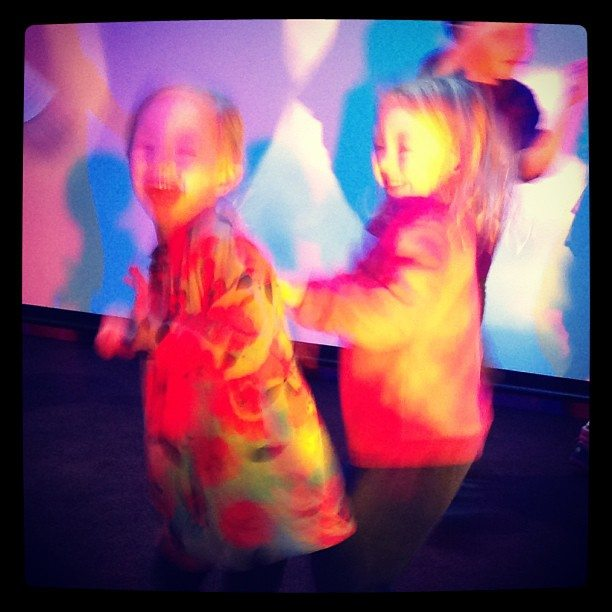 Kids having fun at the disco