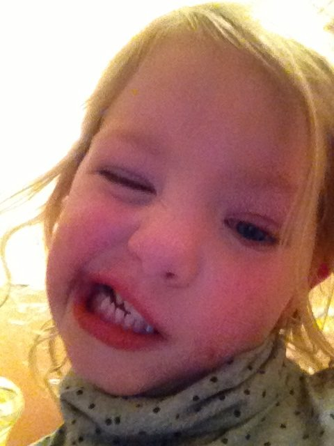 Funny faces on the iPhone camera