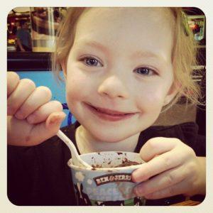 Enjoying Ben & Jerry's Ice Cream