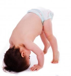 Baby in fresh nappy. Image courtesy of photostock at FreeDigitalPhotos.net.