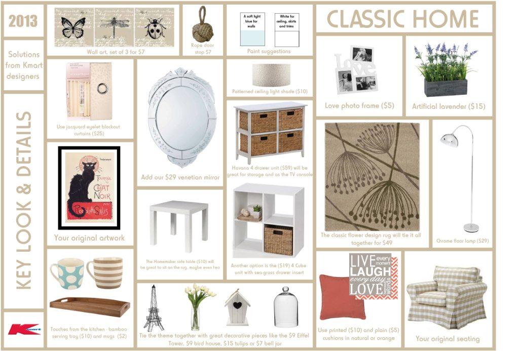 Living room design advice from Kmart