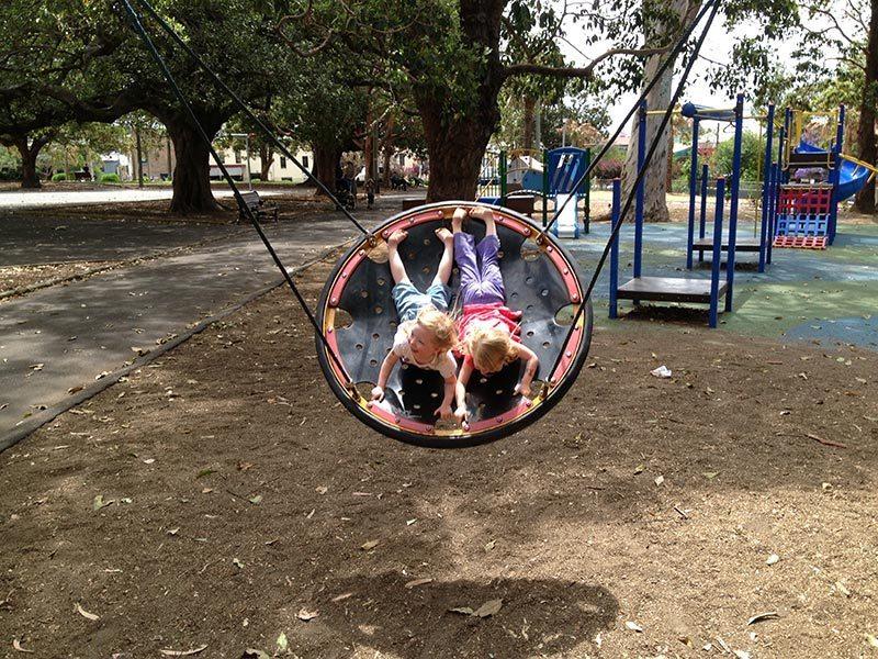 Having fun at a Balmain Park