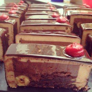 Wobbly dark choc dessert, YUM!