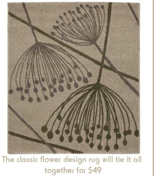 Flower Rug, Kmart.