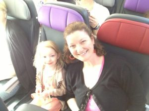 Lilly and Mummy on the plane