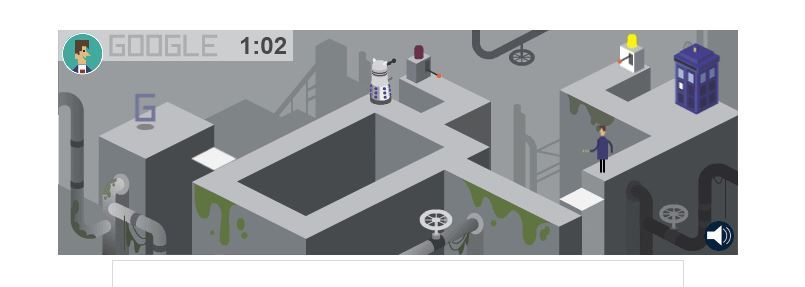 The game to celebrate 50 Years of Doctor Who. You picked a doctor and then had him in the game!