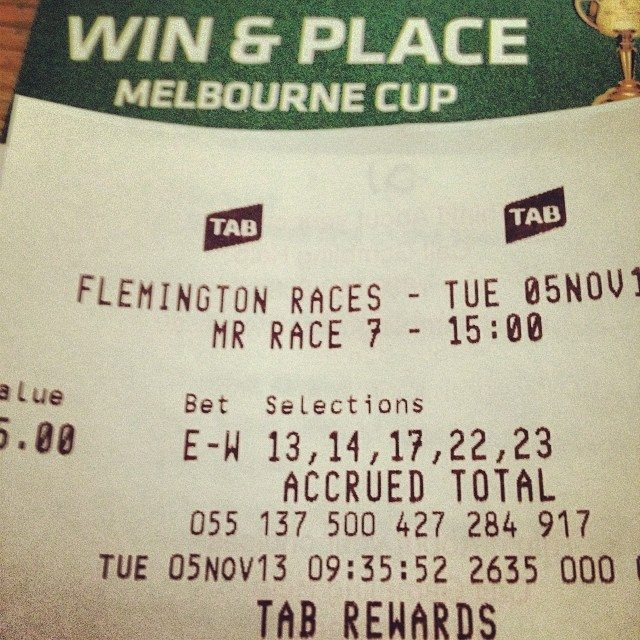 My Bet for Melbourne Cup