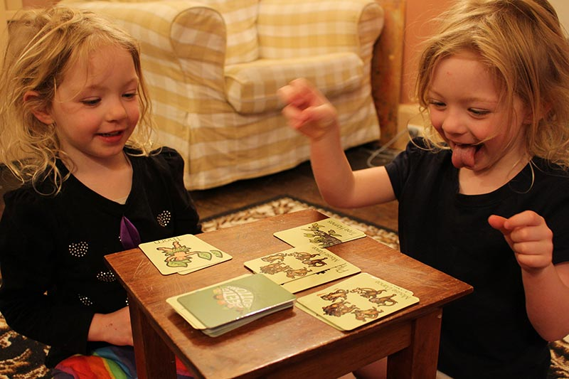 Playing Beetle Bottoms Memory and Snap game