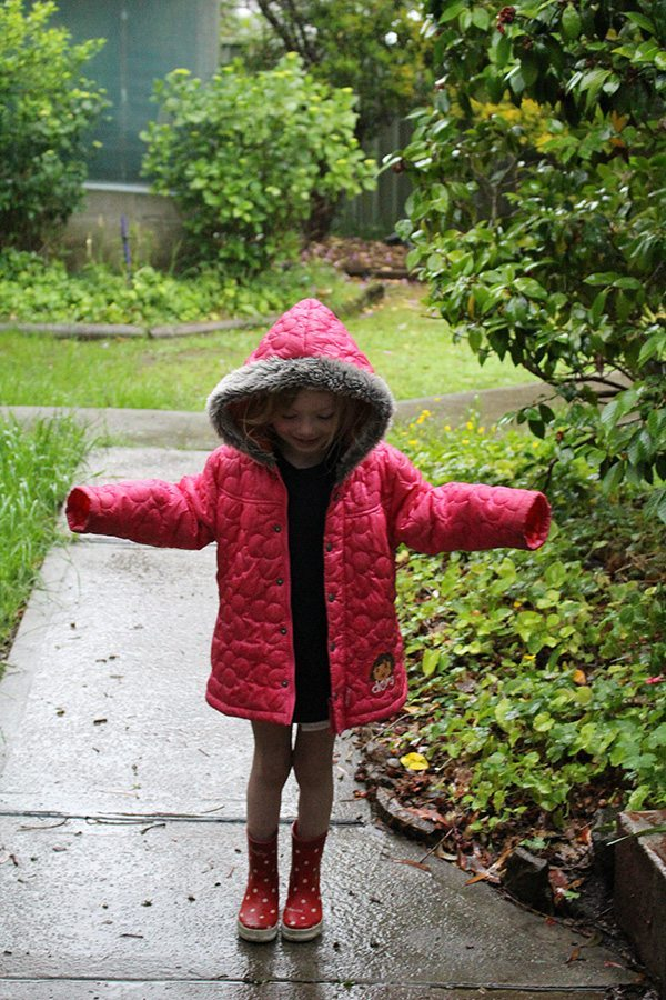 Love playing in the rain!