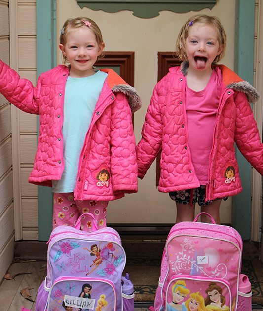 The girls last day of preschool - Look how big and grown up they are!