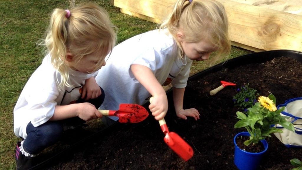 Loving using the Little Green Fingers Gardening Set