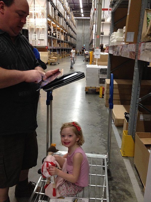 The iPad was a great tool to help us navigate through IKEA