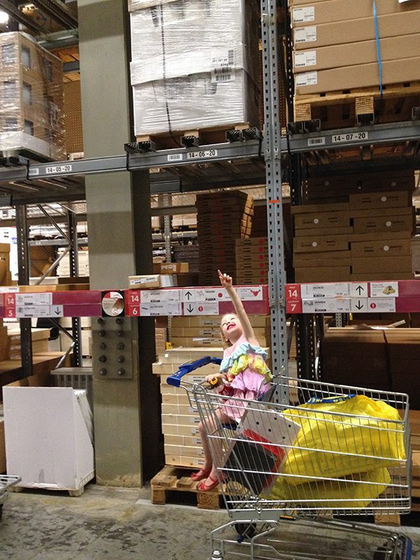 Telling the kids that the warehouse at IKEA is huge!
