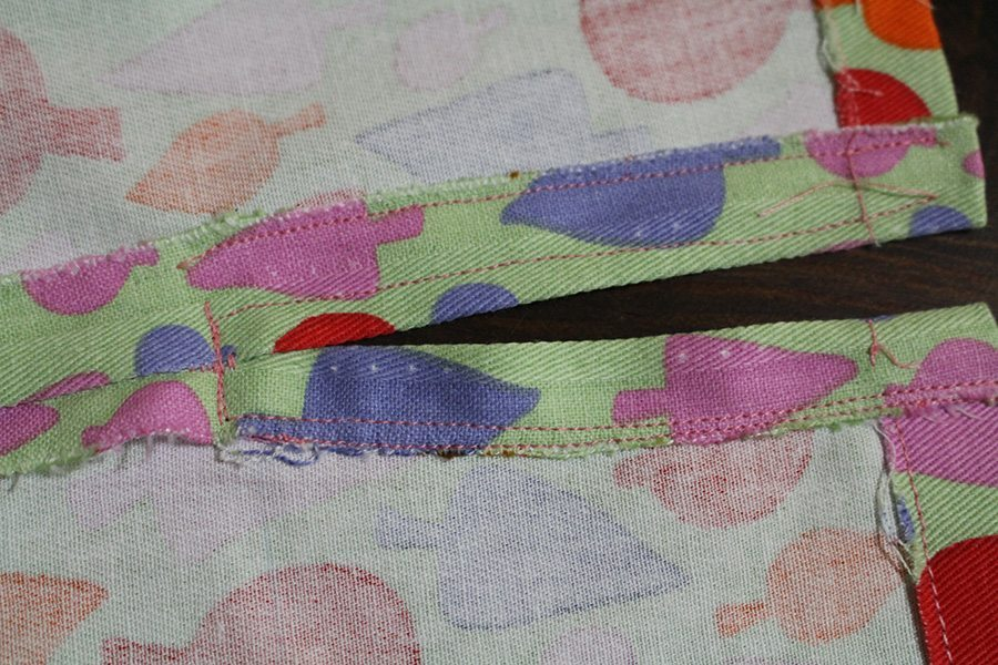 Sew the sides and join them with a sitch that joins them together but does not seal the opening.