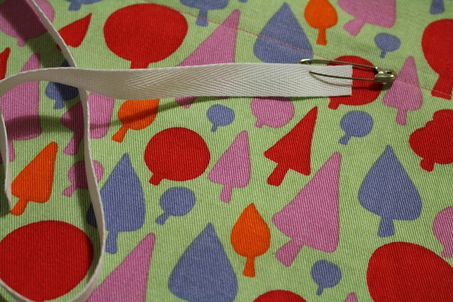 Make sure to attach a safety pin to your elastic. It makes it much easier to find and push through the casing.