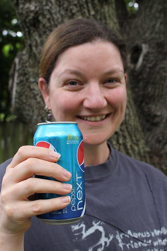 Me enjoying Pepsi Next
