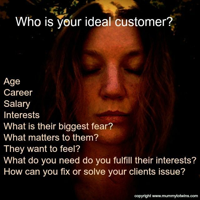 Understanding your ideal customer. Yes I am looking very zen in the background.