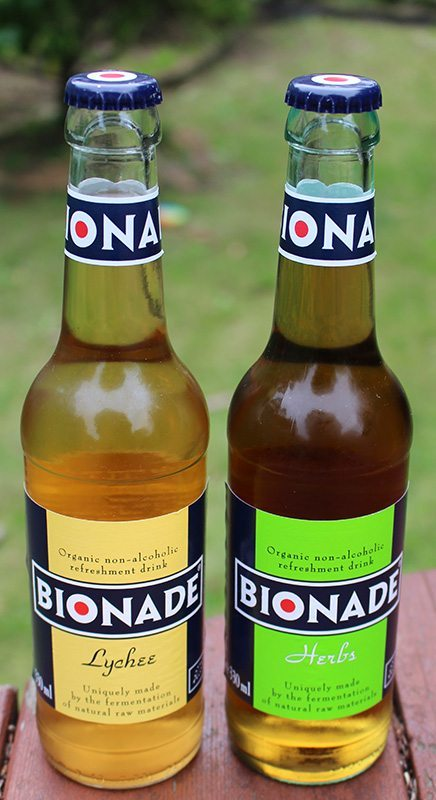 Yummy Bionade Drinks ready to be consumed!
