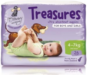 Treasures nappies for boys and girls - 4-7kgs