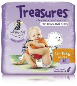 Treasures nappies for boys and girls - 13-18kgs
