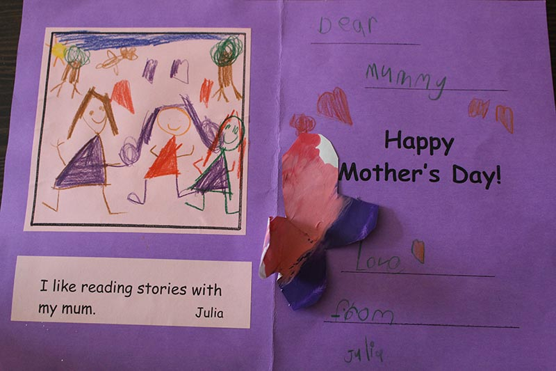 Julia's card for Mother's Day