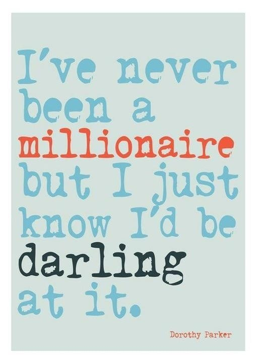 I am sure I would be a success being a millionaire. What about you? Image from Pinterest.