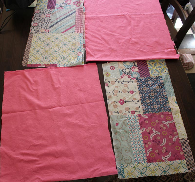 Material that has already been cut. Now it is ready to make a skirt.