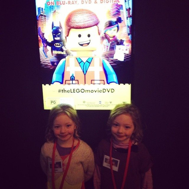 The twins at the DVD launch of The Lego Movie - #theLEGOmovieDVD