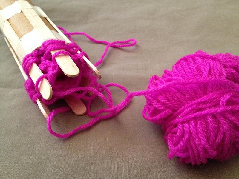 Julia's knitting. She has done such a great job so far.